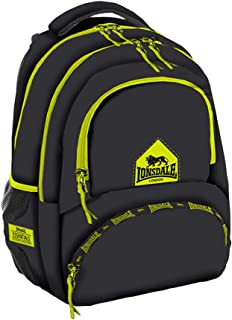 Lonsdale Unisex-child Campus Backpack Casual Daypack School Backpack, Color Black