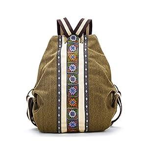 REFURBISHHOUSE Mochila de Lienzo Etnico Tribal para Mujer Bolsa de Hombro Hippie Mochila de Estilo de Bohemio para Ninas   DeHippies.com