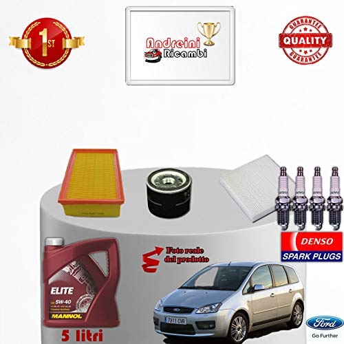 Kit oliefilter bougies Ford Focus C-MAX 1.6 74 KW vanaf 2005 -> 2007