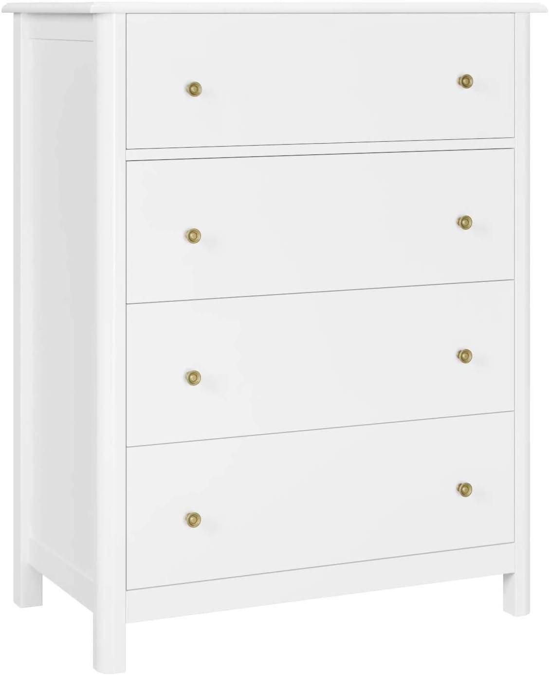 HOMECHO White Dresser 4 Drawer Chest/Nightstand - 29