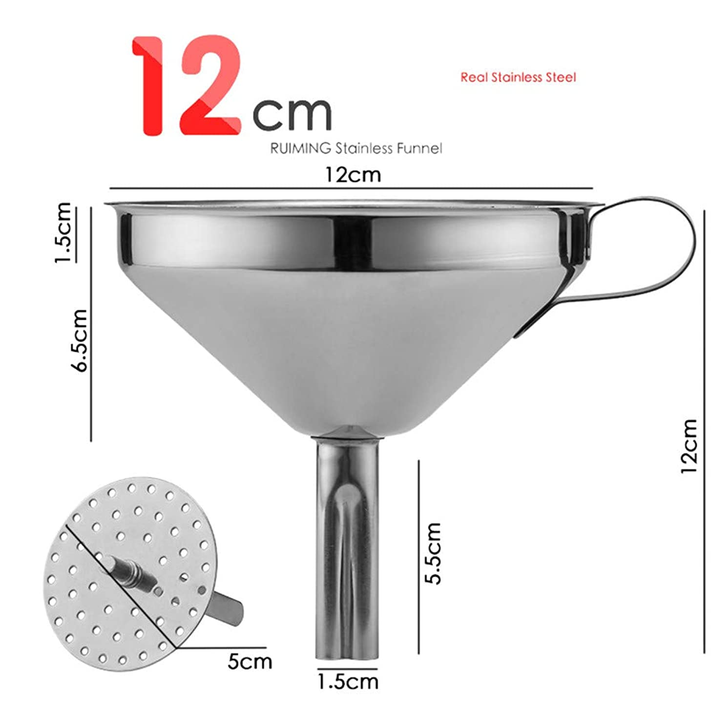 Stainless Steel Kitchen Funnel All Kinds Of Hip Flasks Food Grade Metal Funnels for Transferring of Liquid Powder