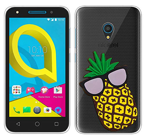 Sunrive Für Meizu M5 Hülle Silikon, Transparent Handyhülle Schutzhülle Etui 3D Case für Meizu M5(W1 Ananas)+Gratis Universal Eingabestift MEHRWEG