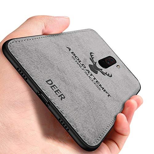 Yoodi Capa para Xiaomi Pocophone F1, capa híbrida com absorção de choque, capa antiderrapante para cabeça de cervo com capa de borda flexível de TPU para Xiaomi Pocophone F1 - cinza