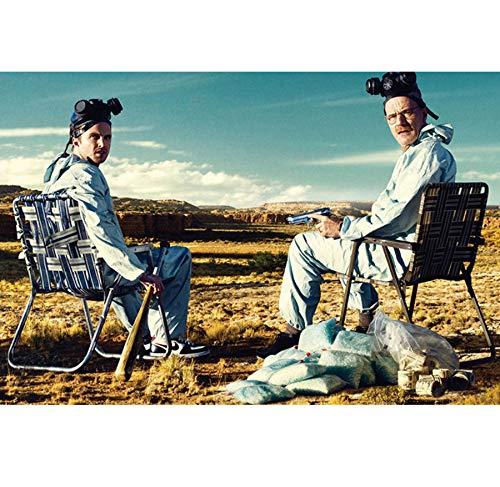 DPFRY Leinwandbilder Wandkunst Bild Breaking Bad Walter Weiß Jesse Pinkman Tv Spielen Poster Drucken Leinwand Malerei 40X60 cm Rahmenlose