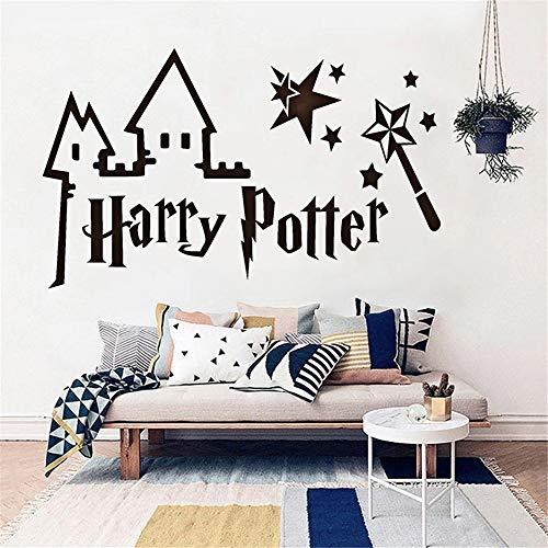 Stickers Mural Autocollant Harry Potter Pour Chambre D'Enfants Château Baguette Magique Art Chambre D'Enfant Chambre Salon Décoration