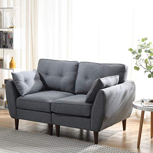 Cherry Tree Furniture Brooks Fabric Sofa (Grey, 2-Seater)