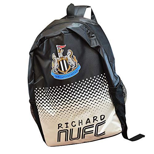 Personalised Newcastle Backpack Football Boys School Bag Soccer Gym/United/Men/Printed/Zip/Rucksack Stadium/Big Large/30 x 15.5 x 40 Centimetre