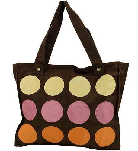 Guru-Shop Schultertasche, Shopper Bali - Braun, Herren/Damen, Synthetisch, Size:One Size, 30x35 cm, Alternative Umhängetasche, Handtasche aus Stoff