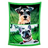 Personalized Throw Blanket. Custom Blanket with 1-9 Photo Collages. Customized Blankets for Family, Friends, Dogs or Pets, Used as Souvenirs and Gifts (2 Photos Collage, 32X48in(80x120cm))