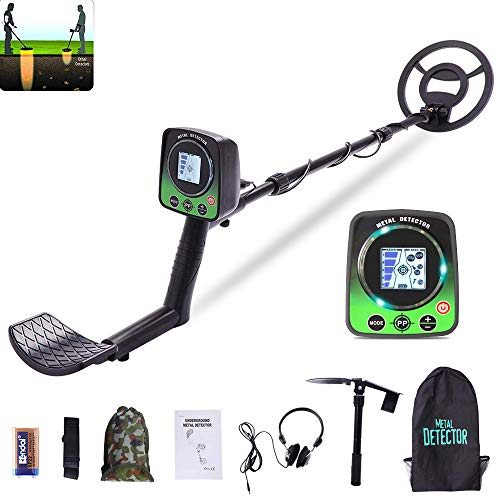 Ferrous Metal Discrimination Metal Detector For Adults and Kids, High Accuracy Metal 3 Modes Adjustable Detector with Lcd Screen And LED Light Waterproof Search Coil For for Beginners Treasure Hunting Detectors Metal