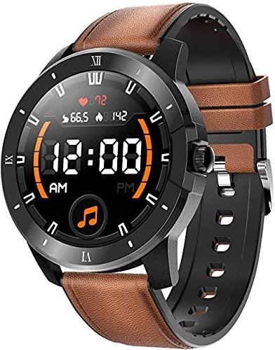 XYJ Smart Watch Men con Monitor de Ritmo cardíaco Bluetooth Call Pedómetro Presión Arterial SpO2 Smart Watch Fitness Watch Smart Pulsera Activity Tracker IP68 Impermeable Android iOS (Color : Brown)