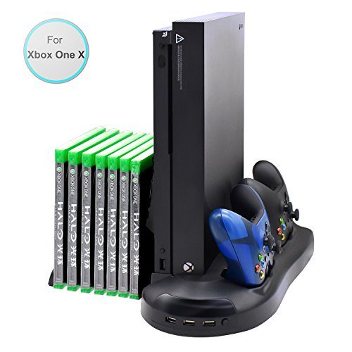 FastSnail Vertical Stand Cooling Fan for Xbox One X, Dualshock Controller Charging Station for Xbox...