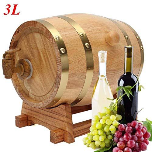 Yongse 3L Houten vat met Spigot voor Whisky Wine Liquor Homebrew