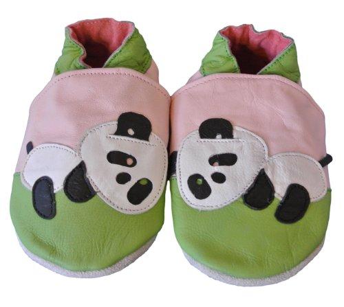 Shoozies Chaussures de bébé en Cuir Souple pour Filles Panda 12–18 Mois (L)