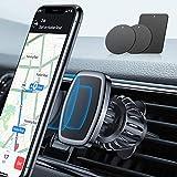 LISEN Phone Holder Car, [Upgraded Clip] Magnetic Car Mount [6 Strong Magnets] Car