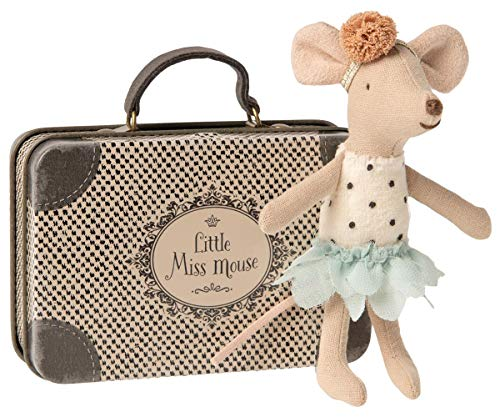 Maileg Mouse, Little Miss Mouse in suitcase, Childs Birthday Gift age 3 , Can include FREE giftwrap