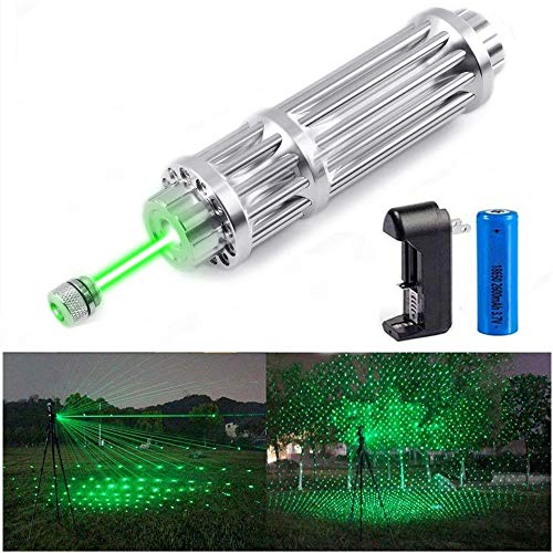Dinsom Green Beam Light Full Set of High Power Tactical Teaching Pen with Patterns for Astronomical Hunting Hiking Meeting