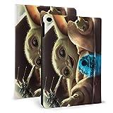 Étui Star Mandalorian Wars Master Yoda pour tablette iPad mini4 / 5 7,9 'avec mise en veille/réveil automatique Étui en cuir ultra mince avec support léger IPD-353