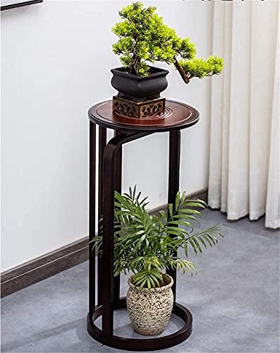 Supporto per Piante in Legno, Supporti per vasi, Supporto per fioriera di metà secolo con piattino per Piante, portavasi in Legno per Decorazioni per la casa, Legno, 30 x 30 x 85 cm