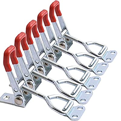 Accessbuy Toggle Steel Latch Catch Clip Clamp Hasp Metal For Tool Boxes, Trunk, Cases,