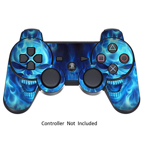 Skin Stickers for Playstation 3 Controller - Vinyl Sticker for DualShock 3 Wireless Game PS3 Controllers - Protectors Stickers Controller Decal - Blue Daemon [ Controller Not Included ]