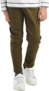 BYCR Boys' Skinny Elastic Waistband Cotton Camo Cargo Jogging Pants