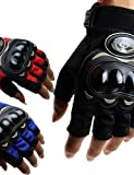 K-NVFA Guantes de moto Dedos sin punta Goma/Nailon/Malla M/L/XL Rojo/Negro/Azul , red-xl ,...
