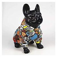 DHDHWL ペット服 犬服 クマ様々な動物のプリントが服犬のファッションの服はベーン犬のトレーナー風パーカーブルドッグclothesgraffiti動物猿 #c (Color : Graffiti, Size : L)
