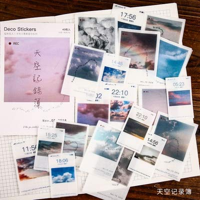 Mdsfe 40pcs Creative Diary Decorative Sticker Label Diary Fixed Japanese Decorative Photo Album Sticker Flake Scrapbook - K