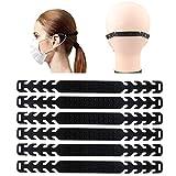 Sporgo Maske Ohrhaken, 10 Stück Maskenhaken Anti-rutsch Silikon Masken Ohrband Gummiband Verlängerungsriemen für Ohrschutz Einstellbare Haken Ohrenriemen für Erwachsene und Kinder (Silicone)
