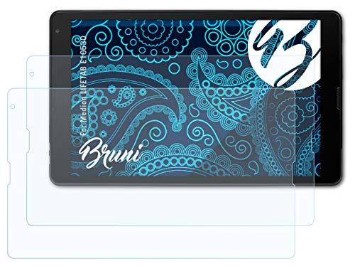 Bruni Schutzfolie kompatibel mit Medion LIFETAB E10530 Folie, glasklare Bildschirmschutzfolie (2X)