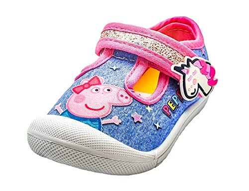Peppa Pig - Zapatos para niña en color azul y rosa, color Azul, talla 20 EU