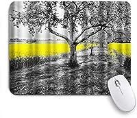 EILANNAマウスパッド 黒い木黄色のコールフラワー自然の風景 ゲーミング オフィス最適 おしゃれ 防水 耐久性が良い 滑り止めゴム底 ゲーミングなど適用 用ノートブックコンピュータマウスマット