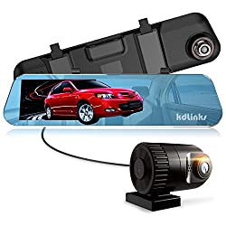 "KDLINKS-Ultra HD Backup Camera Dual Lens Dash Cam with IPS 5"" Screen, Superior Night Mode, Advanced Dashcam Parking Mode, Support 64/128GB"