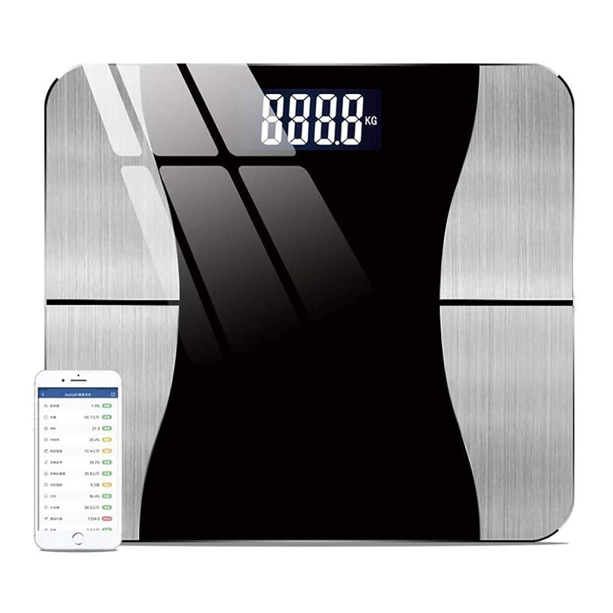 有用最適こっそりHSBAIS スマート Bluetooth 体脂肪計、USB充電体重計 体組成計,black