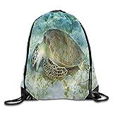 DSGFSQ Sac de Sport,Sac à Cordon Drawstring Backpack Tote Bags Royal Blue Digital Camo Sports Backpack