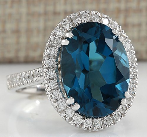 Aunyamanee Jewelry Women Fashion London Blue Topaz Gemstone Silver Ring Wedding Gifts...