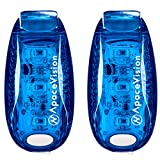 EverLightFX USB Rechargeable LED Safety Light (2 Pack) by Apace - Super Bright Bike Tail Light Works Brilliantly as Running Light for Joggers, Pets, Bicycle Strobe or Rear Clip On Lights (Blue)