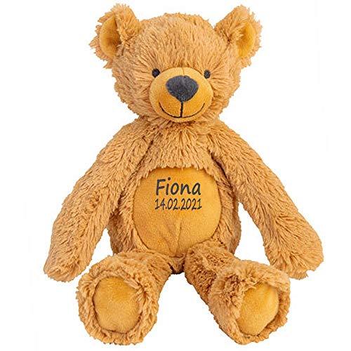 Elefantasie Stofftier Teddy Bär Geschenk mit Namen und Geburtsdatum personalisiert 28 cm