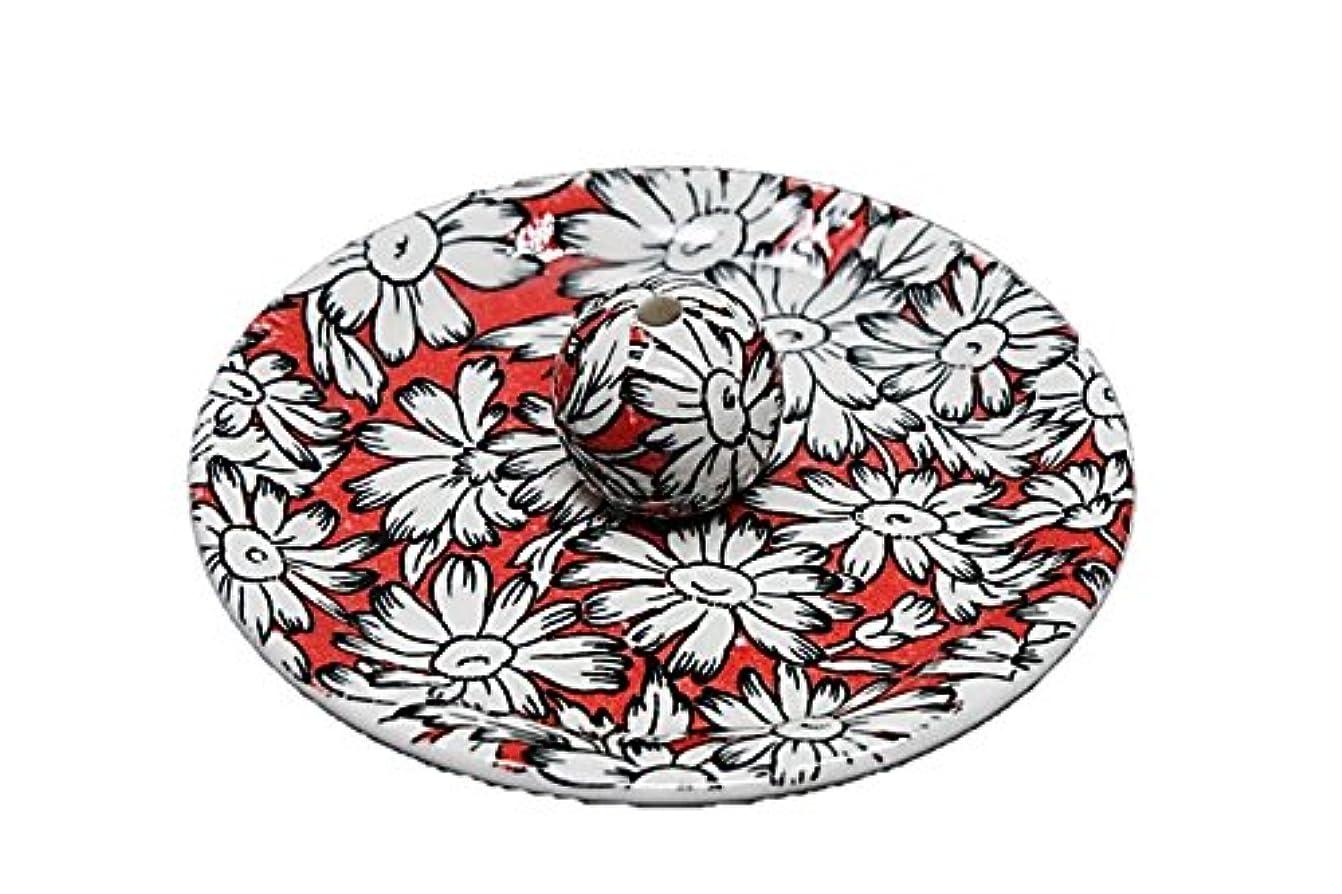 遠近法生き残り国内の9-23 マーガレットレッド 9cm香皿 お香立て お香たて 陶器 日本製 製造?直売品