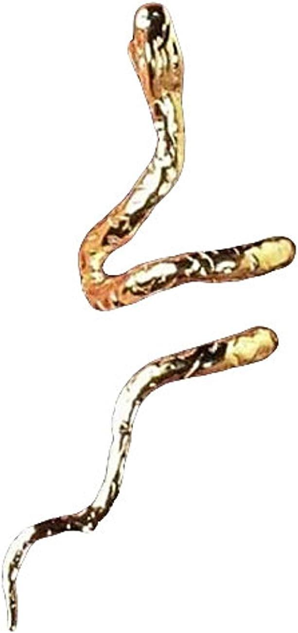 Gold Vermeil Pierceless Left Open Mouthed Snake Ear Cuff Wrap