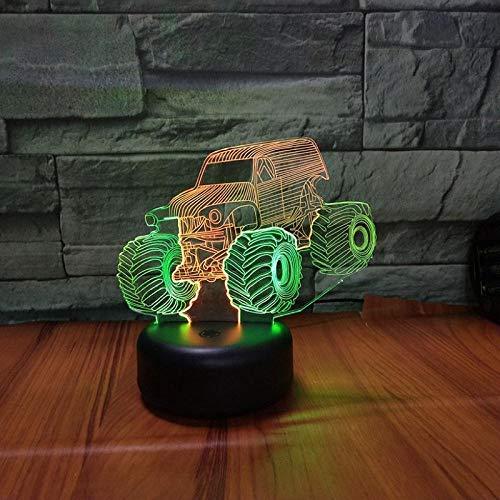 Control De Dos Colores 3D Luz De Noche Led Lámpara De Dibujos Animados Juguetes Para Niños Regalos-Control De Dos Colores_Buggy,Botón Táctil,Control De Dos Colores,Buggy