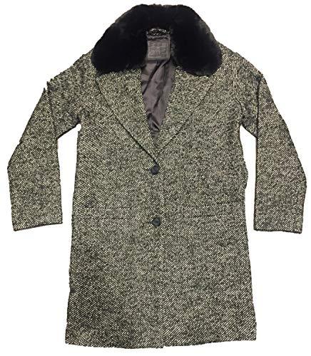 Levi's Damen Mantel mit Kunstlederbesatz 56304-0001, Schwarz Small