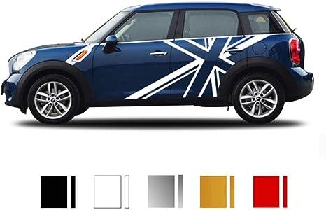 Zhangdan 2 Stücke Union Jack Auto Styling Tür Seite Körper Aufkleber Aufkleber Racing Stripes Zubehör Für Mini Cooper S One Countryman F54 F55 F56 R55 R56 R60 Küche Haushalt