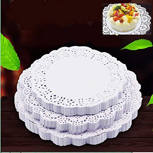 4.5 inch retro romantische bloem reliëf ronde papieren kant kleedjes 100 stks/partij bruiloft decoratie ambachtelijke papier geschenken, 140mm
