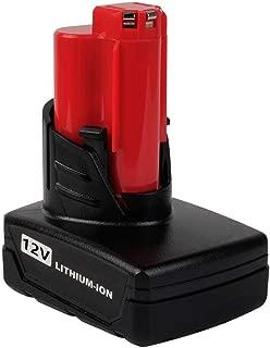 Baterías de repuesto para herramientas eléctricas Milwaukee sin cable, rojo