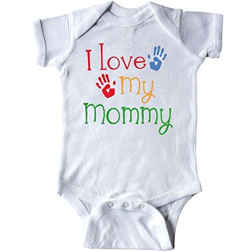 inktastic I Love My Mommy Handprints Infant Creeper Newborn White 21168