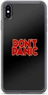 iPhone XR Case Clear Anti-Scratch Shock Absorption Dont Panic - The Hitchhiker's Guide to The Galaxy Cover Phone Cases for iPhone XR