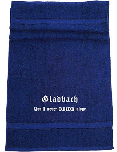 ShirtShop-Saar Gladbach - You'll Never Drink Alone; Badetuch, dunkelblau