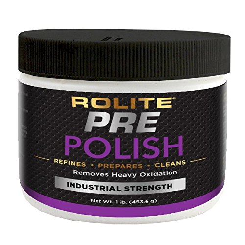 Rolite Pre-Polish Paste - Stain and Oxidation Remover for Heavily Oxidized, Discolored and Corroded Metal, Clear Coated and Gel-Coated Surfaces, 1 Pound, 1 Pack